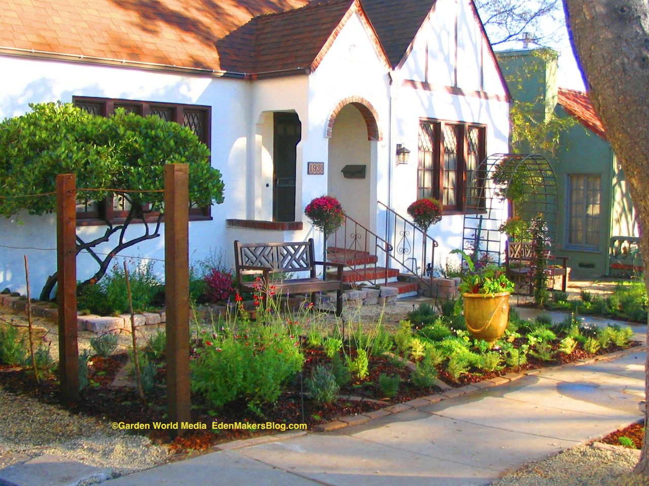 Front yard without grass home design inside for Front yard garden ideas designs