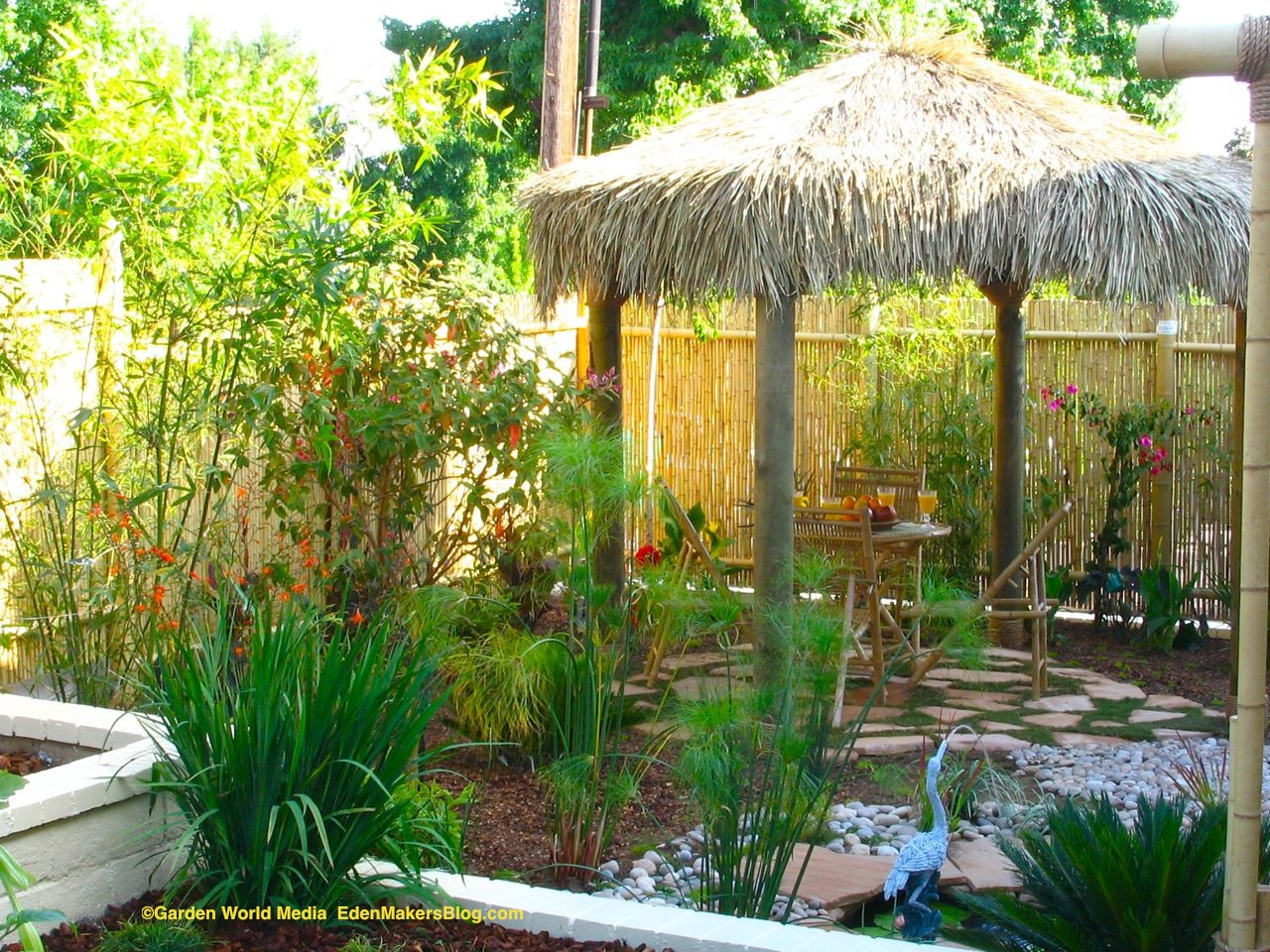 Tropical backyard landscaping ideas home design elements for Back yard garden designs