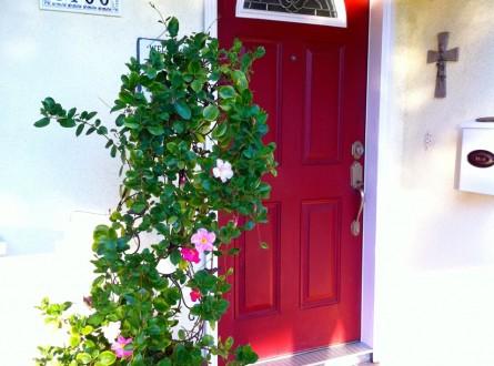 Door painted red