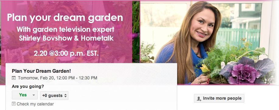 Shirley-Bovshow-Guest-on-Hometalk-Google-Hangout-Plan-Spring-Garden
