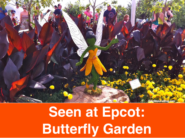 black-cannas-tinkerbell-butterfly garden