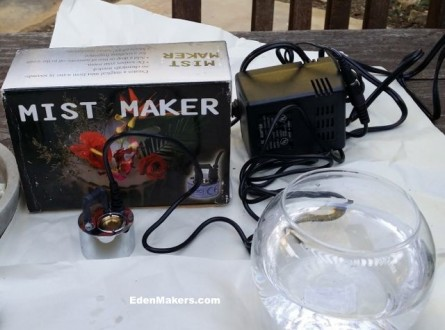 mist maker pump for miniature gardens and moss plants