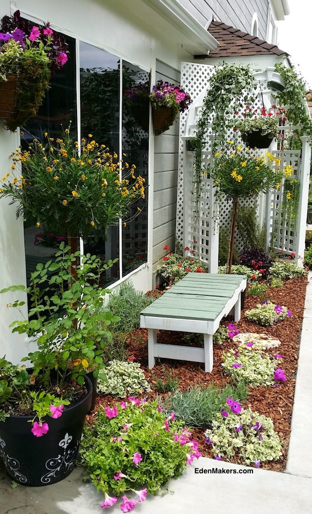 Narrow Garden Bench Images Small Garden Ideas With