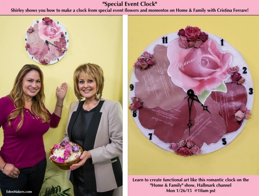 shirley-bovshow-clock-from-event-flower-momentos
