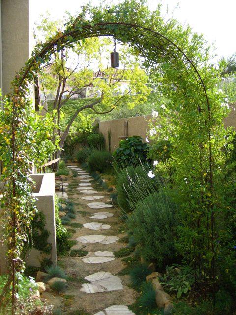 narrow side yard small garden