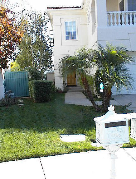 small front yard landscaping ideas. Before- A small patch of grass